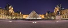 In 1983, French President François Mitterrand proposed the Grand Louvre plan to renovate the building and move the Finance Ministry out, allowing displays throughout the building. American architect I. M. Pei proposed a modernist glass pyramid for the central courtyard. The pyramid and its underground lobby were inaugurated on 1988. Controversial at first become an accepted Parisian architectural landmark. The second phase of the Grand Louvre plan,La Pyramide Inversé was completed in 1993.