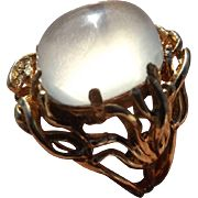 Rare Antique Arts and Crafts 18 kt. Gold Moonstone Ring...