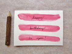 DIY Happy Birthday Watercolor Card