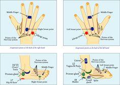 pressure points for pineal gland | Source : A Self Treatment Manual by Sagar Sagir.