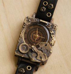 Vintage Watch. Handstitch. Leather Band