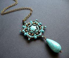 Lotus flower pendant by moonsafaribeads on deviantART