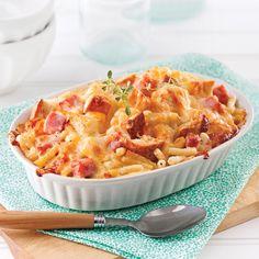 Macaroni au fromage style croque-monsieur - 5 ingredients 15 minutes