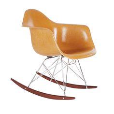 Vintage Herman Miller Charles Eames Fiberglass Rocking Lounge Chair