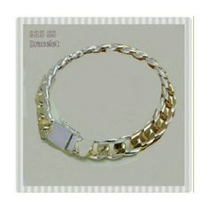 ONE LEFT! 925  2 COLOR SS BRACELET *NEW** 925 2 Color Sterling Silver Bracelet Material Type.        925 Sterling Silver Length.                    20 cm Clasp.                      Hidden Safety Style.                       Romantic Chain & Link Metal Type.             Plated              Heavy Weight Very High Quality Workmanship! Get it for yourself or someone special! Jewelry Bracelets