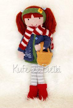 Kuferek Bietki: Tuva- lalka na szydełku/ Gehäkelte Puppe/Tuva - crochet doll
