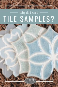 Need tile for your kitchen or bathroom renovation? Take the first step by ordering tile samples. Learn about the benefits of ordering tile samples, as well as which sample pack is right for you. Kids Decor, Diy Home Decor, Decor Ideas, Cute Wall Decor, White Kitchen Decor, Handmade Tiles, Painted Paper, Beautiful Bathrooms, Tile Patterns