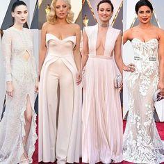 As celebridades mais uma vez arrasando com looks em tons de branco!  #Oscar #oscar2016 #rooneymara #ladygaga  #oliviawilde #redcarpet #prontaparaosim #