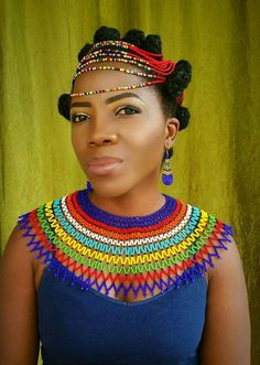 African Beaded Bracelets, African Necklace, African Jewelry, Zulu Traditional Wedding, Traditional Outfits, African Wear, African Women, African Inspired Fashion, African Fashion
