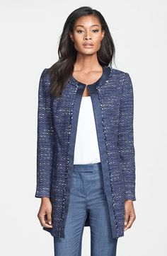 Lafayette 148 New York 'Lanai Tweed' Topper available at #Nordstrom