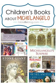Are you planning to study the life and art of Michelangelo Buonarroti in your homeschool? Good news: we've got a fun list of children's books about Michelangelo to help you learn! Art Lessons For Kids, Art For Kids, Homeschool Books, Art Curriculum, Fun List, Art Programs, Children's Literature, Art Activities, Children's Books