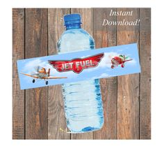 Disney Planes Jet Fuel Water Bottle Labels for by KirstensKreation