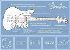 Diagram of Johnny Marr's signature Fender Jaguar