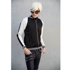 Black and White Sports Athletic Track Jacket #FREESHIPPING on this item❗️ Black and White Sports Jacket. Striped sleeves and cuff. Size: Small (women's). Shiny Satin type material. Brand: Rue21 ✅✅Offers Considered✅✅ ‼️Bundle Diecounts‼️ Rue 21 Jackets & Coats
