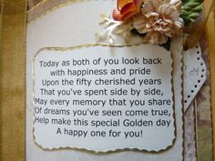 50th anniversary party ideas on a budget | 50th Wedding Anniversary Poem: