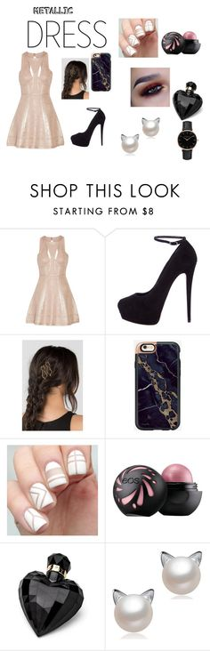 """Metallic girl"" by anitacookiemonster129-1234 on Polyvore featuring Hervé Léger, Giuseppe Zanotti, Lipsy and Topshop"