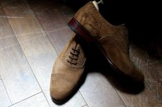 #brouge #suede #brown #shoe #man