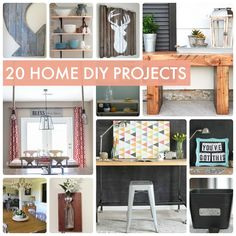 Planning your decor DIY projects? Check out these great ideas - 20 Home DIY Projects!