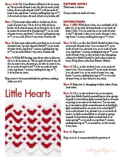 Little hearts ripple pattern
