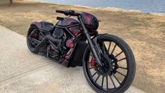 Harley-Davidson® V-Rod Custom by Stringer Collective Custom Moped, Custom Baggers, Custom Choppers, Custom Motorcycles, Custom Bikes, Indian Motorcycles, Custom Cycles, Custom Harleys, Motorcycle Paint Jobs