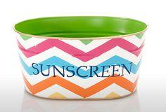 Chevron Sunscreen Tub