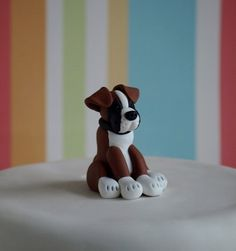 Boxer Dog Cake Topper  Dog Wedding Cake Topper  by TiaLovesArchie