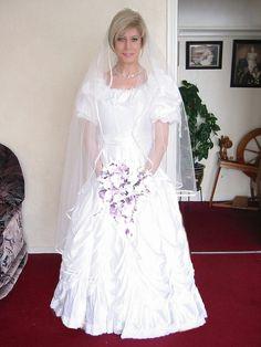 Mickey Tv as a lovely bride.