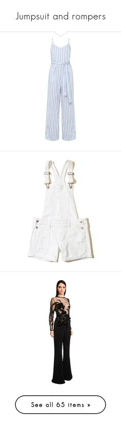 """""""Jumpsuit and rompers"""" by littlelunna ❤ liked on Polyvore featuring shoes, sneakers, jumpsuits, rompers, shorts, bottoms, overalls, white, white overalls and white short overalls"""