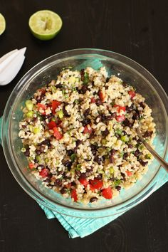 Rice and Black Bean Salad | Good Cheap Eats I would probably sub quinoa or barley because I hate cold rice.