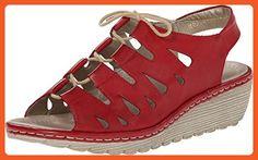 Rieker Women's R3760 Gretchen 60 Rosso Sandal 41 (US Women's 9.5) M - Sandals for women (*Amazon Partner-Link)
