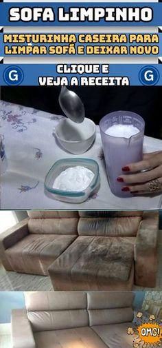 Misturinha caseira para limpar sofás e deixa-los brilhando como se tivesse comprado agora! #limpeza #sofá #dicas #casa