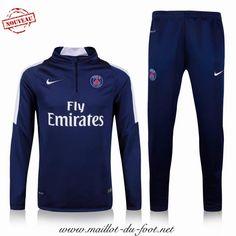 Boutique officielle Nouveau Survetement de foot PSG Bleu 2015 2016 grossiste