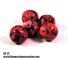 Handmade Polymer Clay #Beads, Polymer Clay Beads for Sale, Jewelry Making Supplies, Round Beads