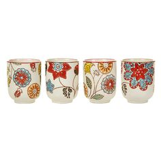 Discover the Pols Potten Floral Pattern Cup - Set of 4 at #Amara