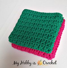 Easy Crochet Dishcloth - Free Crochet Pattern - Written Instructions and Crochet Chart Easy Crochet Stitches, Crochet Chart, Crochet Squares, Easy Crochet Patterns, Crochet Baby, Free Crochet, Afghan Crochet, Irish Crochet, Double Crochet
