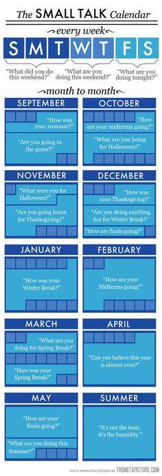 The Small Talk Calendar…