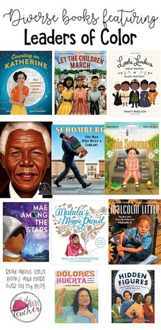The Tutu Teacher: Diversity Matters: Diverse Books featuring Leaders of Color Elementary Teacher, Elementary Schools, Montessori Elementary, Elementary Counseling, Montessori Classroom, Career Counseling, Classroom Resources, Upper Elementary, Classroom Ideas