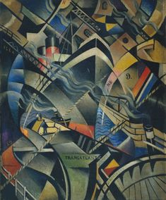 "Christopher Richard Wynne Nevinson ~  ""The Arrival"", c.1913  via Tate"
