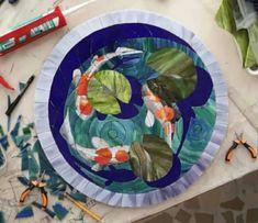 Koi fish mosaic.
