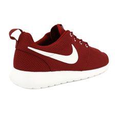 Nike Roshe Run 511881 610 Mens Mesh Laced Trainers Burgundy