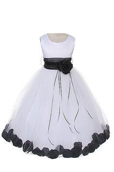 Satin Bodice Communion Flower Girl Pageant Petal Dress: White/Black - 6 Dempsey Marie http://www.amazon.com/dp/B00I83SON6/ref=cm_sw_r_pi_dp_cAjzvb17F0YAW