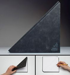 triangle shaped notebook designed by Tan Mavitan