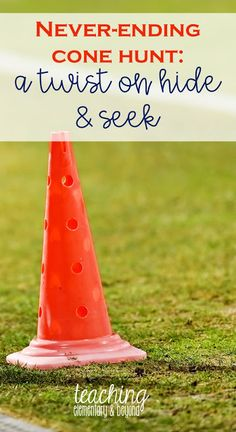 Cone Hunt is a never ending, fun and engaging twist on hide and seek. It is perfect for primary students and especially kindergarten students. A fun game to play at recess or during outdoor learning as a gross motor learning provocation! Friendship Activities, Pe Activities, Gross Motor Activities, Movement Activities, Physical Activities, Gym Games For Kids, Outdoor Games For Kids, Outdoor Gym, Games For Toddlers