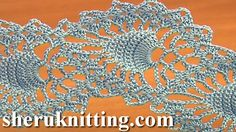 CROCHET PINEAPPLE LACE http://sheruknitting.com/videos-about-knitting/crochet-lace/item/715-crochet-pineapple-lace.html With this crochet video tutorial you will learn how to crochet beautiful flat double sided crochet lace tape made of very popular pineapple stitch motifs