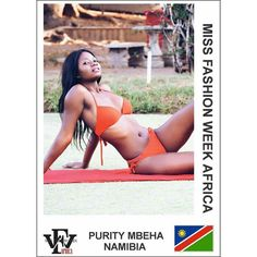 Here is a swimwear submission for the Miss Fashion Week Africa contest by Purity Mbeha from Namibia  If you are yet to complete your profile  you still have to the 28th to do so. However please take note of the below submissions that you need to make in order  to avoid delays : 1. Two (2) Head-shot Photos (Front and Side View) 2. Two (2) Full-Length Photos (Front and Side View) 3. One (1) Swimwear photos 4. Scanned copy of valid international passport  5. Interview Video that is not more…
