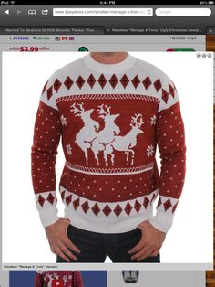 Christmas is hump day!! Perfect sweater!
