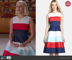Quinn Fabray Fashion on Glee Tv Show Outfits, Dance Outfits, Cool Outfits, Quinn Fabray, Glee Fashion, Wide Stripes, Flare Dress, Striped Dress, Spring Outfits