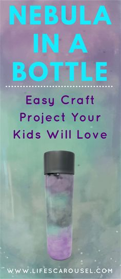 DIY Nebula in a Bottle. Make your very own galaxy or nebula in a bottle with this easy kids project. All you need is water, paint, cotton wool and glitter! Easy Craft Projects, Projects For Kids, Crafts For Kids, Summer Crafts, Craft Ideas, Galaxy In A Bottle, Nebula Jars, Nebula Marvel, Project Yourself