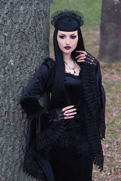 """gothicandamazing: """"  Model: Obsidian Kerttu Top, skirt and headband: Sinister Necklace: AppleBite jewelry Lenses: SPECIALLENS™ Cosmetic Lens Center Photo: John Wolfrik Welcome to Gothic and..."""