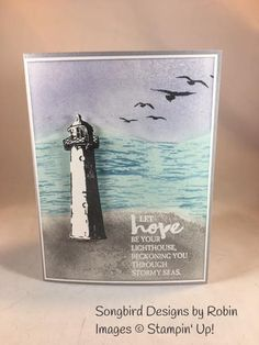 Hello!   I have been playing with my High Tide Stamp Set today.  This fantastic set is found in the Occasions Catalog.  I looked for a chall...
